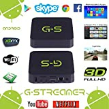 G-Streamer Dual Core Android 4.2 Box with Live TV/Movies Streaming Capability (Black)