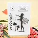 Welcome to Joyful Home 1pc Fairy Clear Stamp for Card Making Decoration and Scrapbooking