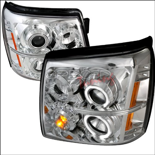 2005 2006 2007 Ford Focus Black Projector Headlights Pair 2 X CCFL Halo