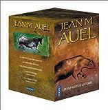 echange, troc Jean M. Auel - Les Enfants de la Terre, coffret de 5 volumes : Le clan de l'ours des cavernes - La vallée des chevaux - Les chasseurs de mamm