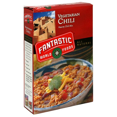 Fantastic Foods Vegetarian Chili, 6.4-Ounce Boxes (Pack of 12)