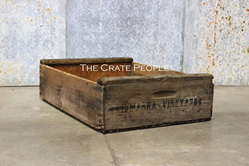 Vintage Rustic SHORT Grape Crate | hundreds available | vintage crates