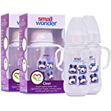 Small Wonder Clear Baby Feeding Bottle (Pack Of 2) - 125 Ml