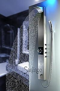 Edelstahl Duschpaneel Duschsäule Wasserfall Regendusche von Sanlingo  Kundenbewertung und Beschreibung