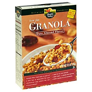 Health Valley Low Fat Granola, Date Almond Flavor, 12.5-Ounce Boxes (Pack of 6)