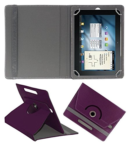 ECellStreet 360° Degree Rotating Flip Case Cover Diary Folio Case With Stand For Pinig Kids Smart Tablet 6-8 - Purple  available at amazon for Rs.199