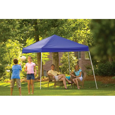 ShelterLogic Pop-Up Canopy - 10ft. x 10ft., Open Top, Slant Leg, Blue, Model# 22559