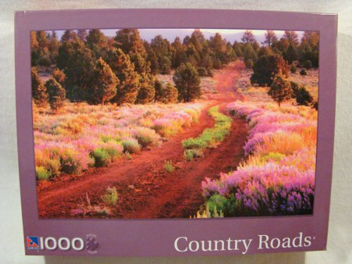 Country Roads: Lupine Lined Road 1000 Piece Jigsaw Puzzle