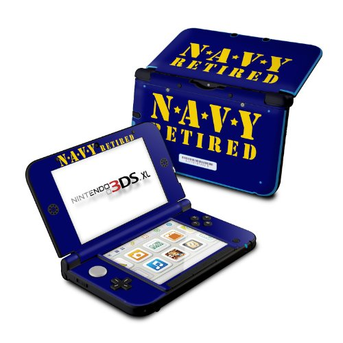 Navy Retired Design Protective Decal Skin Sticker for Nintendo 3DS XL (2014) launch design protective decal skin sticker for nintendo 3ds xl 2014