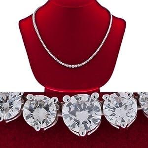 Diamond Necklace graduated F Vs-2 women ladies 16