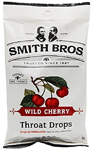 Smith Bros Throat Drops Wild Cherry 30 Drops Per Package (Pack of 6) Discontinued By The Manufacturer (Smith Brothers Apple Pie compare prices)