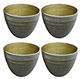 "ToolUSA 7 3/4"" Diameter ""blended Green"" Ceramic Planter With Drain Hole: GC-RB08G-8-Z04 : ( Pack of 4 Pots )"