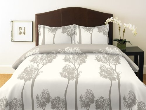 City Scene Tree Top Duvet Cover Set, Full/Queen