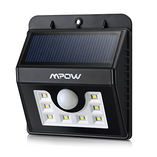 Patio Lights Wireless: Outdoor LED Wireless Solar Powered Motion Sensor Light