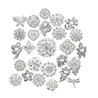 Lot 25pcs bridal and wedding brooch b…