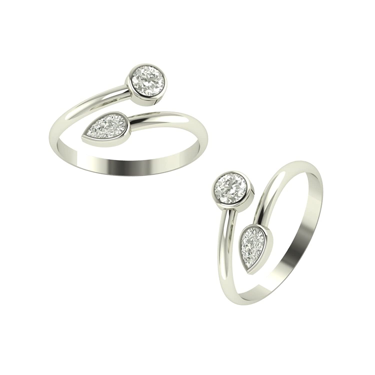 Silver Collection!! 20% - 50% Off On Silver Products By Amazon | Peenzone 92.5 Sterling-Silver Toe Rings For Women @ Rs.450