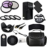52MM Accessory Kit for Canon EOS M 18.0 MP Compact Systems Camera with 3.0-Inch LCD and EF-M18-55mm IS STM Lens Includes 3 Piece Filter Kit (UV-CPL-FLD) + 4 Piece Macro Filter Kit (+1 - +2 - +4 - +10) + 2 Extended Life Replacement Batteries (LP-E12) + AC DC Rapid Home & Travel Charger + Mini HDMI Cable + Carrying Case + Wireless Remote + Hand Strap + Lens Hood + Lens Cap & Keeper + Memory Card Wallet + Microfiber Cleaning Cloth