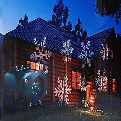 屋外用イメージプロジェクター クリスマス・ハロウィンなど 13種ホリデーイメージスライド付き PI44防水等級