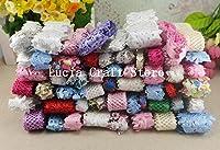 2x12yards/lot Random Lace Trim Embellishment Flower Ribbon Sewing Craft DIY Garment & Home Decoration