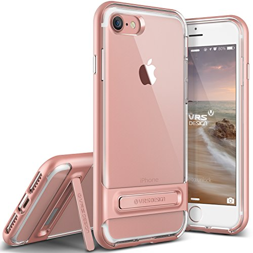 vrs-design-funda-iphone-7-crystal-bumperoro-rosa-transparente-caseshock-absorcion-coverkickstand-par
