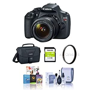 Canon Rebel T5 DSLR Camera Bundle with 18-55MM Lens. Value Kit with Accessories