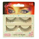Dimples Individual Black False Eyelashes Style 113