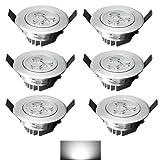 4-100x 3W LED Spot Sparlampe Einbauleuchte Warmweiß Kaltweiß Decken Einbau