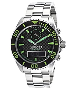 Invicta Men's 13723 Pro Diver Analog-Digital Display Swiss Quartz Silver Watch