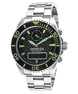 Invicta Men's 13723 Pro Diver Analog-Digital Display Swiss Quartz Silver Watch