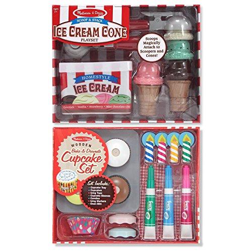 Melissa & Doug Bake & Decorate Cupcake Set and Scoop & Stack Ice Cream Cone Playset (Melissa And Doug Ice Cream Cone compare prices)