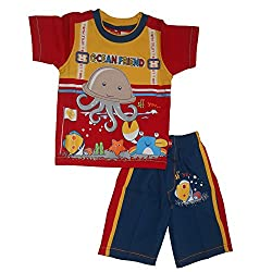NammaBaby Sleeveless T-Shirt and Jeans Nekar Shorts Set (3-4 Years)