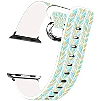 Iwatch Bands 38mm Apple Watch Band Genuine Prime Elegant Leather Replacement For All IWatch With Silver Metal... - B01IM1NX2A