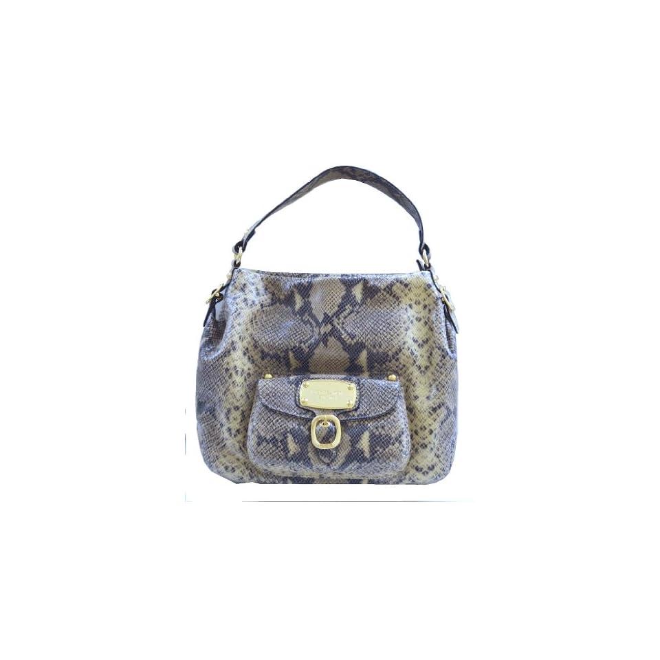 54fb2e71e747 Michael Kors Snake Skin Leather Hudson Downtown Large Shoulder Bag Tote  Handbag Purse