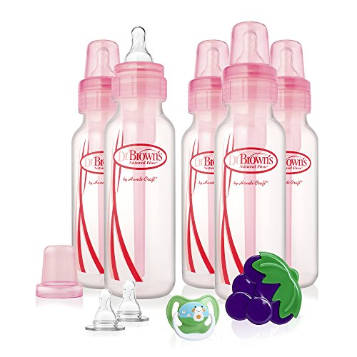 Dr. Brown's Original Bottle Gift Set, 8 Ounce, Pink