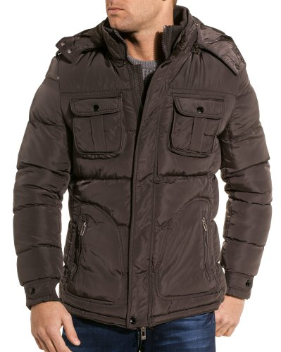 Gov denim - Gray man jacket with detachable hood - Color: Grey Size: S