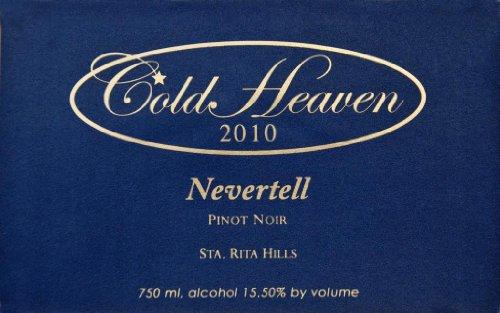 2010 Cold Heaven Nevertell Pinot Noir Sta. Rita Hills 750 Ml