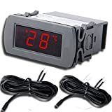 Thermometer, RISEPRO Digital Temperature Panel Meter Monitor Thermometer °C and °F (-49 ~ 99 °C / -49 ~ 199 °F) TPM-2000B