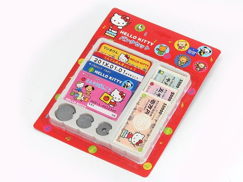 Sanrio Hello Kitty Kids Bank Play Money Set - 1