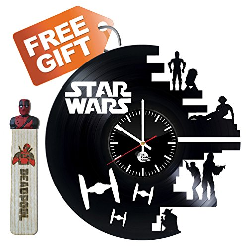 [Star Wars Game Darth Vader Comics Jedi Order Logo Emblem Handmade Vinyl Record Wall Clock Fun gift Vintage Unique Home decor Art Design Retro] (C3po Mask)
