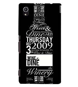 Printvisa Wine Bottle With Quotes Back Case Cover for Sony Xperia M4 Aqua::Sony Xperia M4 Aqua Dual