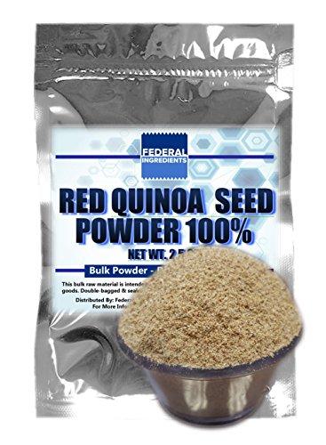 RED QUINOA POWDER 100% - 2.5 Ounces (70 Grams) Lab Grade Sample - Made in the USA by Federal Ingredients - aka quinoa flour organic quinoa flour gluten free (Extra Fine White Rice Flour compare prices)