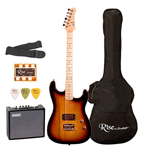 Rise by Sawtooth ST-RISE-ST-SB-KIT-1 Electric Guitar Pack, S