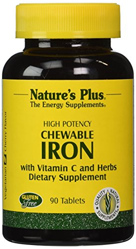 Nature's Plus - Chewable Iron W/ Vit C, 90 chewable tablets (Iron Chewable compare prices)