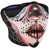ZANheadgear Neoprene Half Mask Sugar Skull