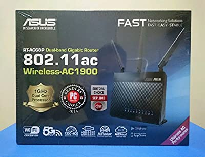 ASUS Wireless AC1900 Dual-Band Gigabit Wireless Router (RT-AC68P)
