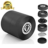 (US) AfternoonDelight 5 Piece Herb Grinder Weed Grinder - #1 Best Rated With Removable Pollen Catcher -Includes FREE Travel Bag and Pollen Scraper