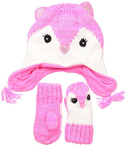 e5199f2fa02 The Children s Place Baby Girls  Animal Hat Scarf and Mitten ...