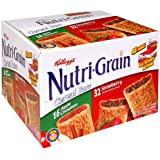 Kellogg's Nutri-Grain Cereal Bars, Variety Pack of Strawberry and Apple Cinnamon, 48-Count Box