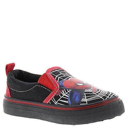 Marvel Spiderman Canvas Sps703 Boys' Toddler Slip On,Black,7