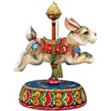 """G. DeBrekht """"Hop, Skip, and a Jump"""" Musical Carousel Series Music Box Figurine 58114-1 Plays """"Try To Remember"""""""